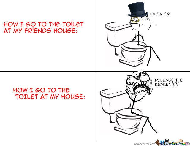 Release the Kraken! on the toilet...
